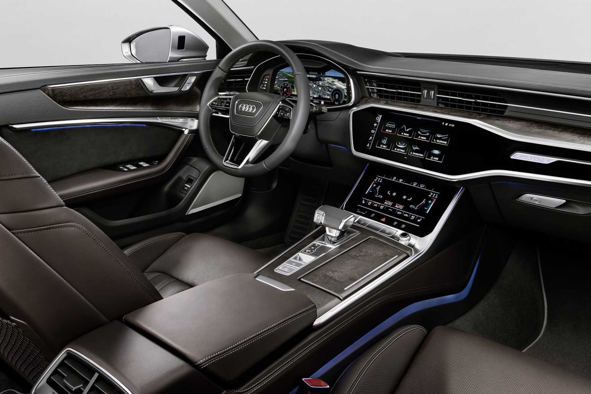 audi a6 2018 sur les traces de l audi a8. Black Bedroom Furniture Sets. Home Design Ideas
